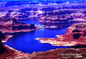 areial lake powell view