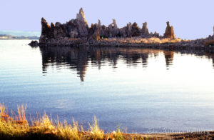 Mountains Rising from Quiet Sea, Mono Lake, California