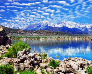 Sierra Nevada Range Reflection, Mono Lake, California