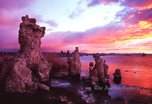 Distant Fading Sunset, Mono Lake, California