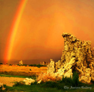 Rainbow, Tufa Reserves, Mono Lake, California